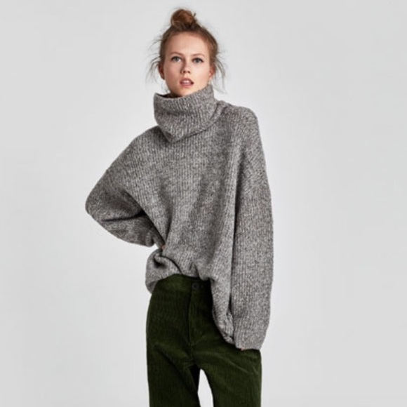NWT Zara oversized roll neck sweater NWT